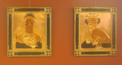 Gold Leaf and Cassein on Carved Basswood