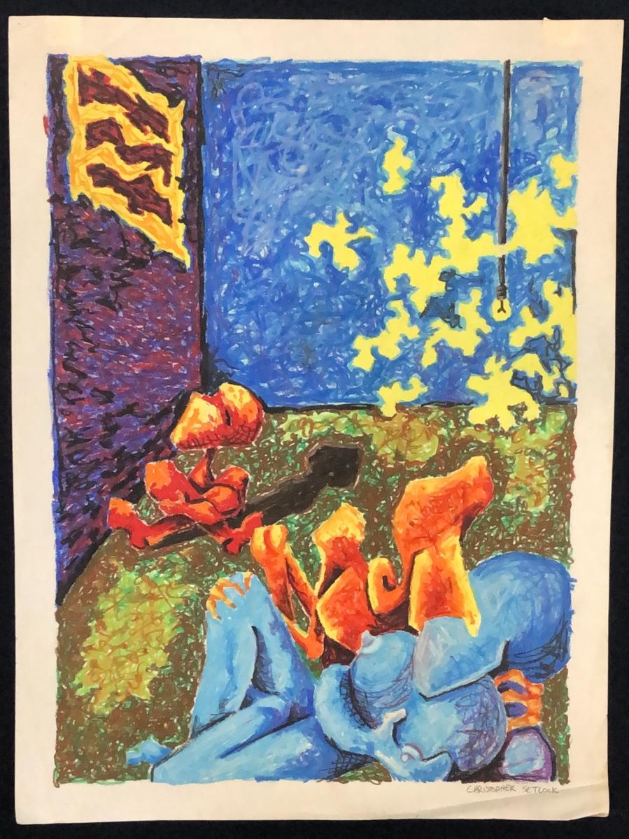"""Untitled (Cuckold)"" oil pastel"
