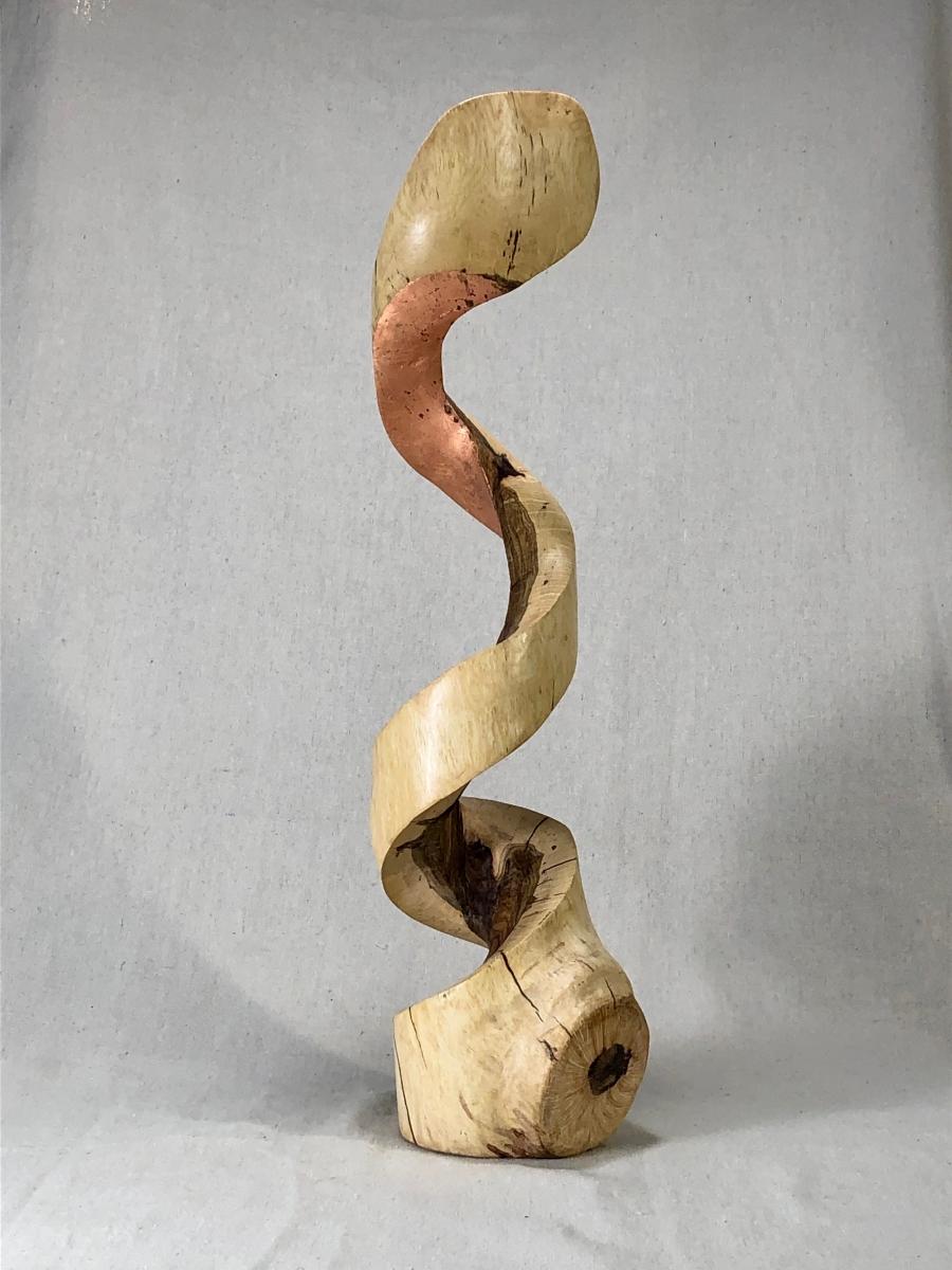 Cobra - White oak and copper leaf - 2019
