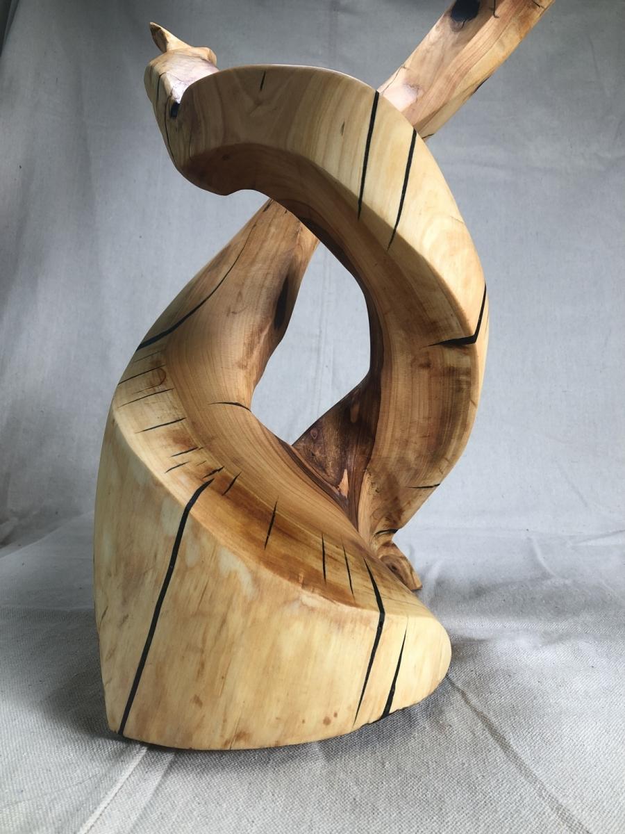 Antler - Cherry wood and black epoxy - 2019
