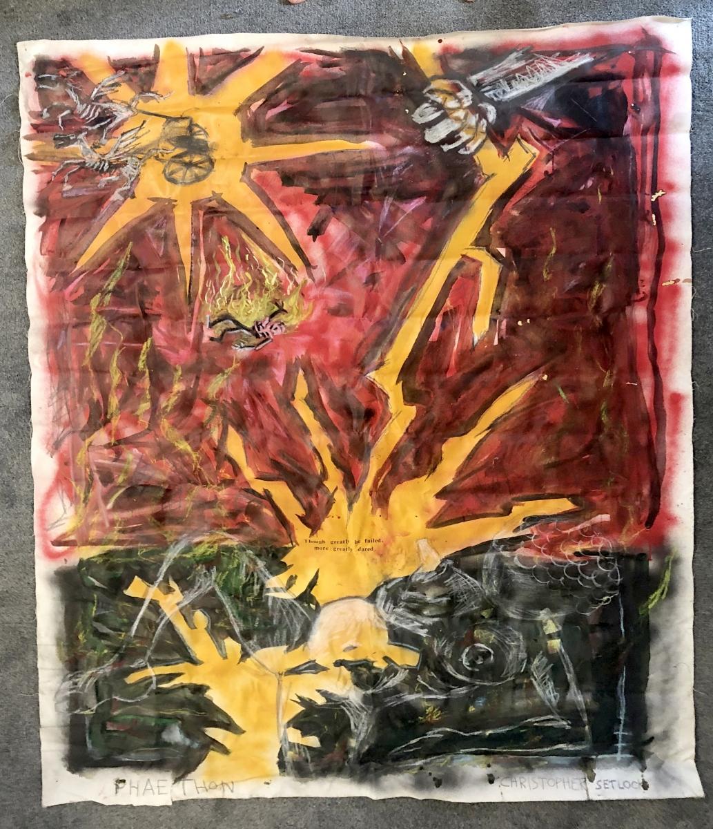 """Phaethon"" mixed media on canvas"