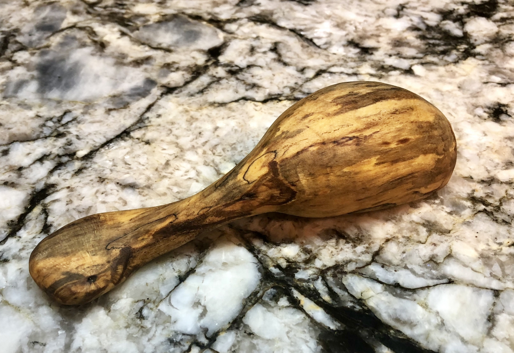 Coffee Scoop-Spalted Apple