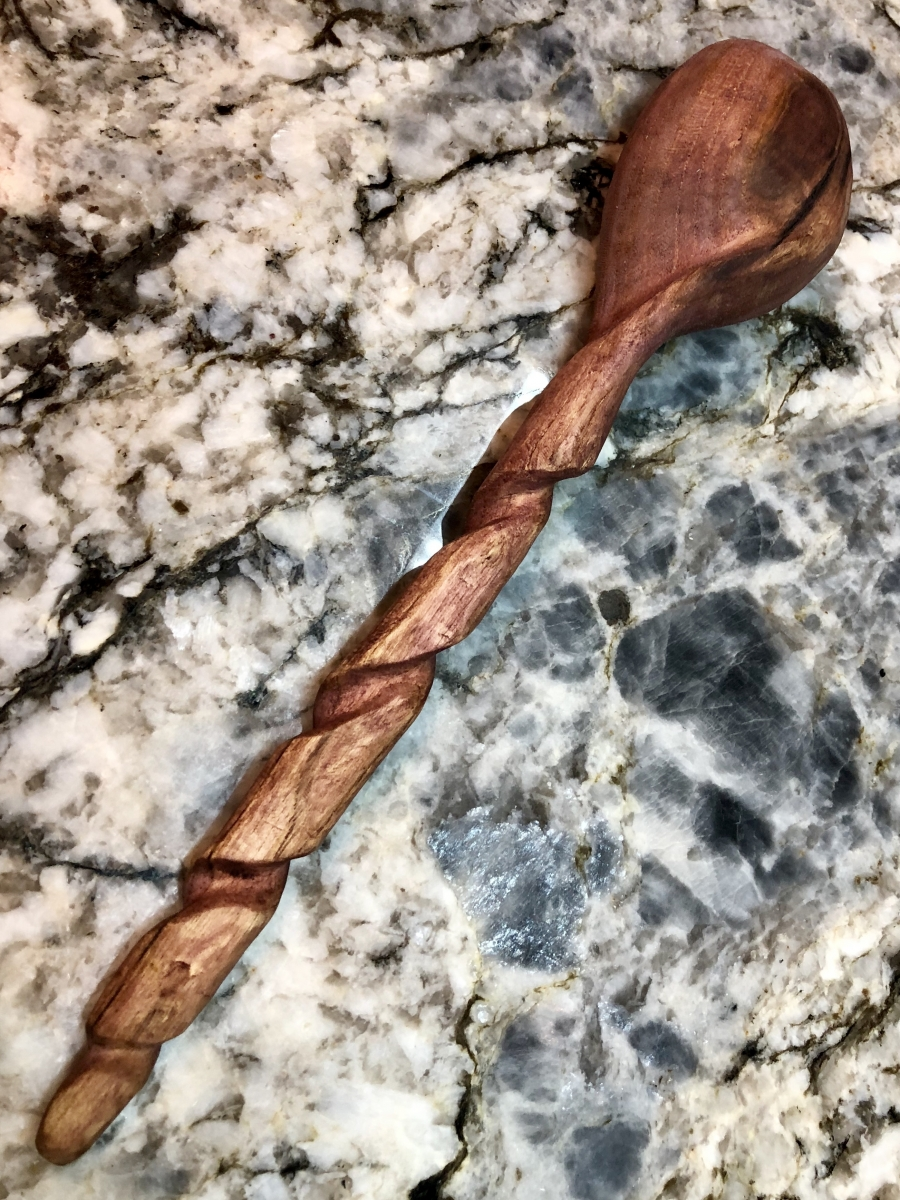 Serving Spoon-Ash with Berry Stain